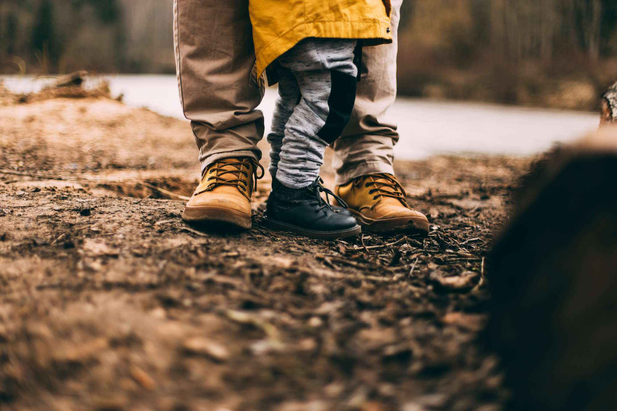 The boots of a father and son