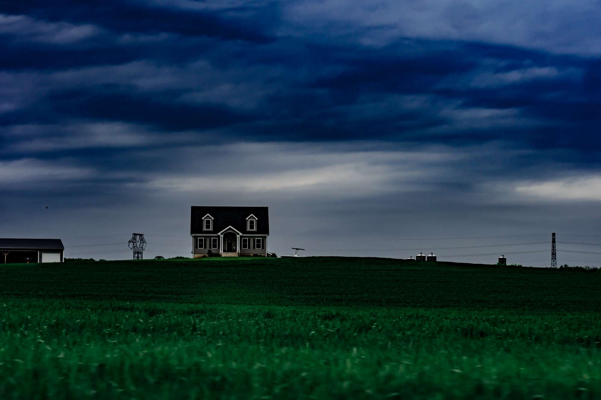 A house in a field