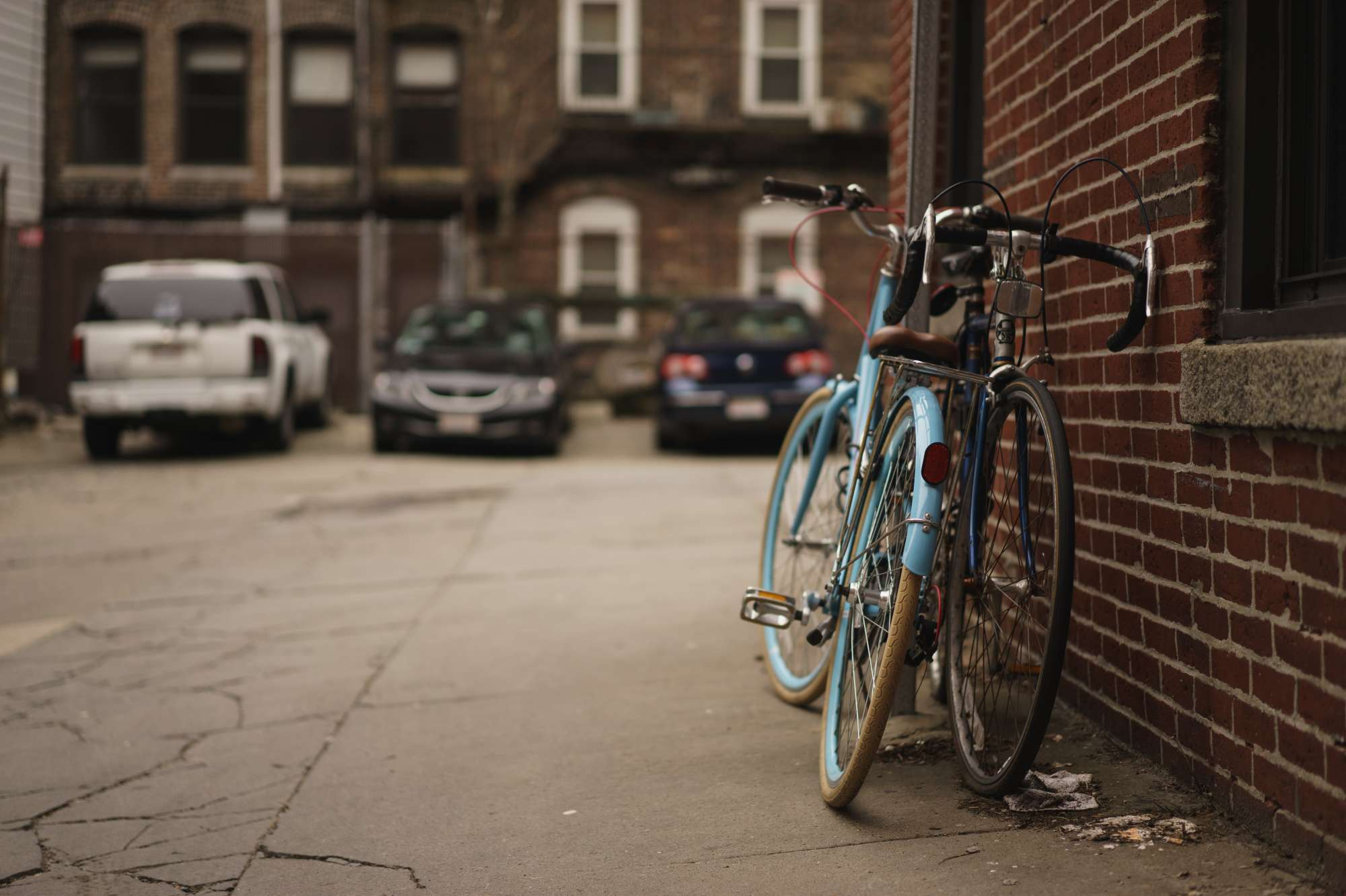 Two Bikes on the street