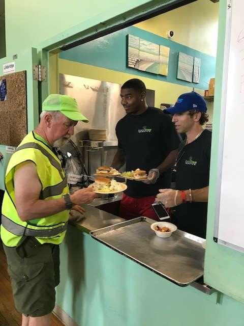 Volunteering at LifeBridge Homeless Shelter