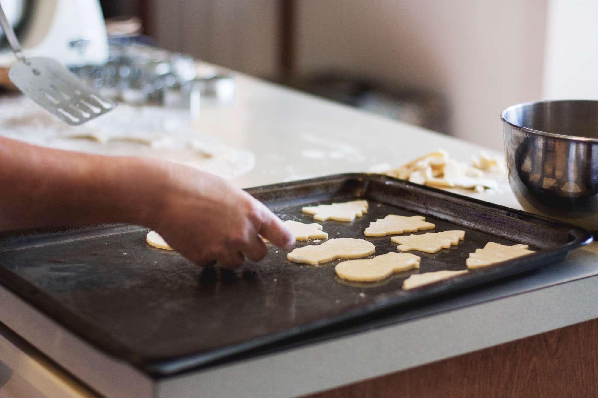 Holiday cookies baking