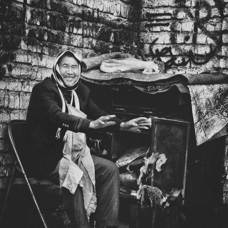 A Homeless Man Smiling
